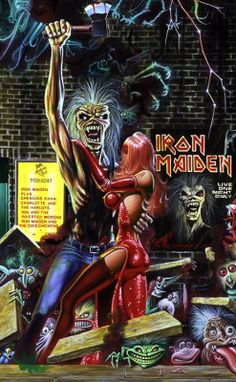 Bring your Saughter to the Slaughter Heavy Metal Rock, Heavy Metal Music, Heavy Metal Bands, Hard Rock, Music Artwork, Metal Artwork, Rock Posters, Band Posters, Bruce Dickinson