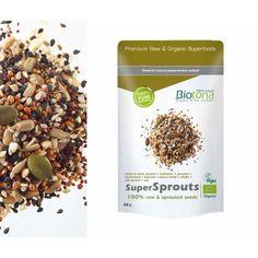 Supersprouts Raw Semillas Biotona 300gr  *Biotona Bio SuperSprouts Raw es una mezcla de alta calidad de semillas germinadas biológicas de sarraceno, brócoli, mijo marrón, avena, alfalfa, de calabaza, quinoa roja, sésamo blanco y negro y de girasol. Después de un lavado minucioso, las semillas se germinan durante 1 o 2 días en condiciones totalmente controladas. La germinación hace eclosionar todas las fuerzas vitales que contienen estas semillas y les aportan efectos benéficos.