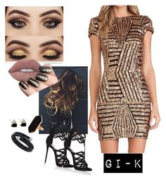 """Untitled #24"" by luanaalvess ❤ liked on Polyvore featuring GURU, Jaeger, Swarovski and Giuseppe Zanotti"