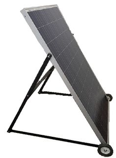 Single 100w Renogy Solar Panel Stand Made Using Pvc Pipe