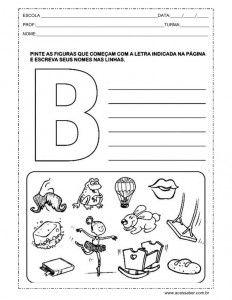 Auto-ditado letra B