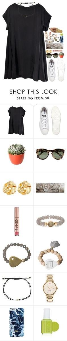 """""""u want her, u need her"""" by kate-elizabethh ❤ liked on Polyvore featuring Converse, PLANT, CÉLINE, Susan Shaw, Urban Decay, BaubleBar, Electric Picks, Melissa Joy Manning, Kate Spade and Essie"""