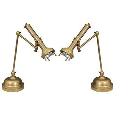 Pair of Mid Century Articulated Flashlight Lamps by Chapman