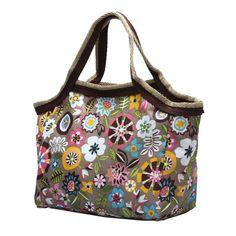 FGGS-Nylon Handbag for Woman Lady Leaves Shape Gift Khaki