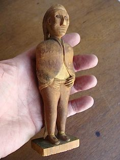 19th Early 20th C Hand Carved Indian American Folk Art Traces Original Paint | eBay  sold   340.00     ~♥~