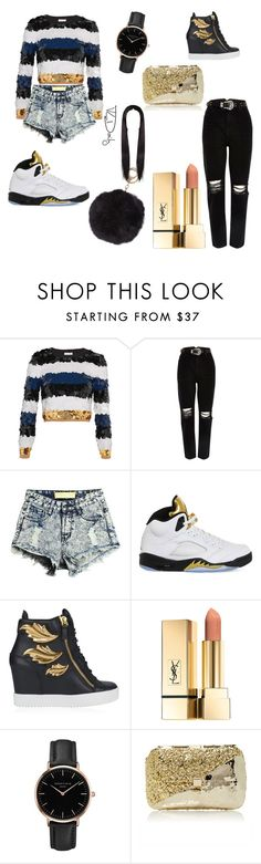 """Gold rush"" by qiana776 ❤ liked on Polyvore featuring beauty, Sonia Rykiel, River Island, NIKE, Giuseppe Zanotti, Topshop, Anndra Neen and Humble Chic"