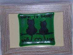 Glasbild / Katzen / Glasspicture / Cats von Glasstueberl auf Etsy Fused Glass, Frame, Etsy, Home Decor, Cats, Ideas, Photo Illustration, Picture Frame, Frames