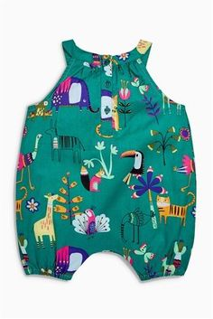 Buy Green Jungle Print Romper (0mths-2yrs) from the Next UK online shop