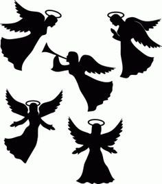 angel silhouette printable - Google zoeken