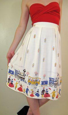 Train circle skirt