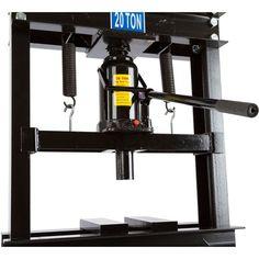Shop press hydraulic ram assembly