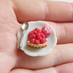 Scented or Unscented Cherry Pie Slice Miniature Food Ring - Miniature food Jewelry