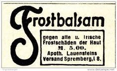 Original-Werbung/ Anzeige 1919 - APOTHEKER LAUENSTEIN'S FROSTBALSAM / SPREMBERG - ca. 45 x 25 mm