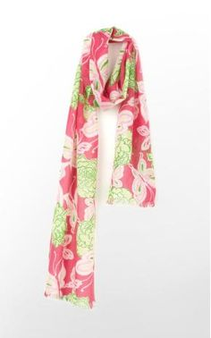 Lilly Pulitzer's Murfette Scarf in Hotty Pink Wing It  Retails for $78.00  Listed for $50.00