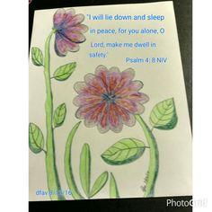 Psalm 4:8.  Artist: dfav (Donna). 8/16