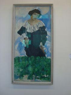 chagall (Pompidou) Paintings, Paris, Pintura, Montmartre Paris, Paint, Painting Art, Paris France, Painting, Painted Canvas