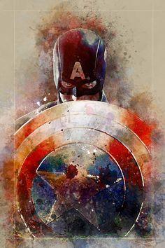 "extraordinarycomics: ""Captain America by DanielMurrayART. """