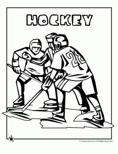 Olympic Coloring Pages: Olympic Hockey Coloring Page