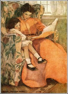 'Encourage One Another' Wednesday Link-Up #80   Deep Roots at Home Jessie Willcox Smith, 'A Rainy Day', 1908