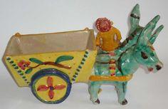 Ceramica Artistica  Asini con carro e figura in ceramica di Vietri realizzato e decorato a mano, firmato Italy  Dimensioni: cm 32 x 14 - Altezza cm 19  Maggiori info su: http://www.keramos.it  Per contatti diretti: info@keramos.it    Ceramic Art  Donkey with cart and figure Vietri ceramic made and decorated by hand, signed Italy  Dimensions: 32 x 14 cm - Height 19 cm  More info on: http://www.keramos.it  Direct contact: info@keramos.it