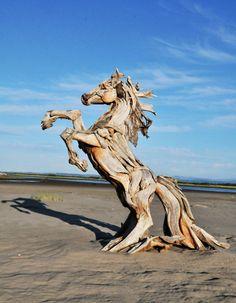 Incroyables Sculptures en Bois Flotté par Jeffro Uitto