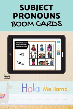 Have you tried BOOM Cards with your students? They're digital and self-checking, which means students get instant feedback, and you don't have to grade! They're self-grading! Your students can read, listen, and write to get practice! This set is perfect for your middle school and high school Spanish classes as they study subject pronouns! It's the perfect activity for homework, review, or even formative assessment! Click to see more and to try it out! Middle School Spanish, Spanish Lesson Plans, Spanish 1, Formative Assessment, Spanish Classroom, Class Activities, Task Cards, Homework, Students