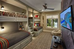 Bunk beds design and room ideas. Most amazing bunk beds for kids. Designing bunk beds that you might like. Bunk Bed Rooms, Bunk Beds Built In, Bunk Beds With Storage, Full Bunk Beds, Bunk Beds With Stairs, Kids Bunk Beds, Boys Bunk Bed Room Ideas, Bunk Bed Designs, Building For Kids