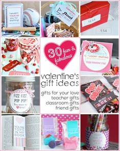 Great Valentine's Gift Ideas for everyone. Don't leave anyone out! Have you thought about Valentine's Day gIft for teachers? Got you covered!