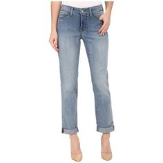 NYDJ Sylvia Relaxed Boyfriend in Earlington Wash Women's Jeans ($134) ❤ liked on Polyvore featuring jeans, relaxed straight leg jeans, boyfriend jeans, cuffed boyfriend jeans, straight leg jeans and boyfriend fit jeans