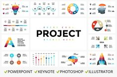 PROJECT - PRO Infographics Bundle by TheSeamuss on @creativemarket