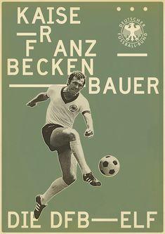 Franz Beckenbauer – from Sucker for Soccer by Zoran Lucić, via Behance Art Football, Soccer Art, Football Icon, Soccer Poster, Football Is Life, Retro Football, Football Design, World Football, Michael Ballack