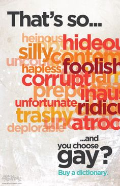 buy a dictionary and pick a new word.