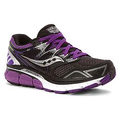 Saucony black shoes    Women's   Saucony Redeemer - Black/Purple - FREE SHIPPING at Shoes.com