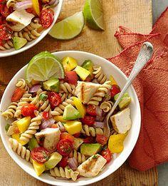 HEALTHY PASTA SALADS (PICTURED: Cilantro-Lime Pasta Salad)