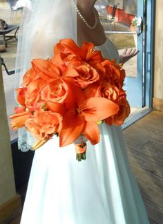 I just loved my bouquet! orange roses and tiger lillies