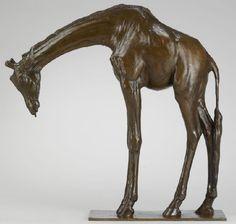 'Grand Giraffe Tête Basse' by Rembrandt Bugatti, ca 1910 (bronze)  The Bugatti family was very talented, indeed.