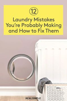 12 Laundry Mistakes You're Probably Making   If you want to avoid musty-smelling towels, remove set-in stains, and keep your white shirts clean and crisp, be sure to follow these 12 common laundry mistakes. Your clothes, bedsheets, and towels will come out clean, stain-free, and fresh-smelling every time, thanks to these laundry hacks. #cleaningtips #cleanhouse #realsimple #cleaningguide #cleaninghacks