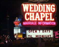 Las Vegas wedding chapel sign