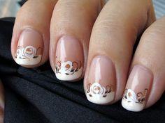 Essie Sugar Daddy & Essie Blanc by Helmetti, via Flickr. What a cute French manicure!