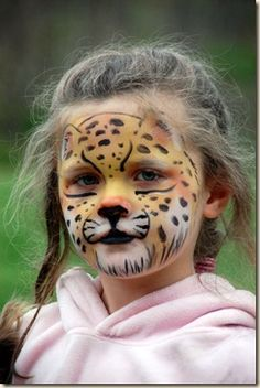 Jaguar face paint