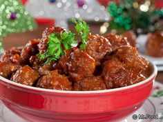 Saucy Cola Meatballs.  Who would guess that one of our favorite soft drinks would be the secret ingredient to these tangy and delicious Meatballs?  They make for crowd-pleasing appetizers!  I bet Dr. Pepper would also work in this recipe.