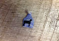 Small blue and silver crackle ear tag pendant with blue sparkles and black lamb silhouette. Comes with rhinestone pinch bail. Repin to be entered to win one of four $50 gift certificates during our Five Year Anniversary Celebration in July 2014.