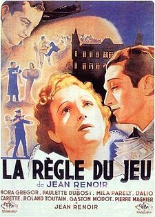 """""""La regle du jeu"""" (The Rules of the Game) 1939 French film directed by Jean Renoir about upper-class French society just before the start of World War II."""