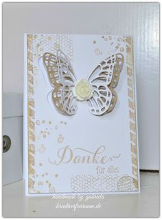 Schmetterlingsgruß | Stampin' Up! | French Foliage | Artisan Embellishment Kit | handmade by gabriela | kreativerfreiraum