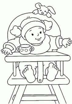 Baby Printable Coloring Pages Lovely Free Printable Baby Coloring Pages for Kids Online Coloring Pages, Coloring Pages For Girls, Coloring Pages To Print, Free Coloring Pages, Printable Coloring, Adult Coloring, Coloring Books, Princess Coloring, Black And White Drawing