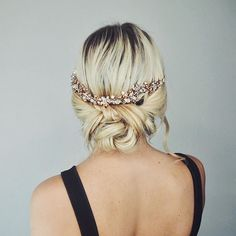 The perfect prom updo with a Jon Richard hair piece!