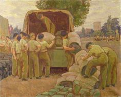Canadian Forces Reach Their Billets by Henry Lamb (1941) https://twitter.com/madefromWW2/status/899574313304674308/photo/1