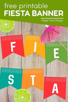 Free printable fiesta banner is perfect for Cinco de Mayo or just for a fun summer barbecue. Print the banner for some free fiesta decor. Printable Banner, Party Printables, Free Printables, First Birthday Parties, First Birthdays, Party Themes, Party Ideas, Fiesta Decorations, Summer Barbecue