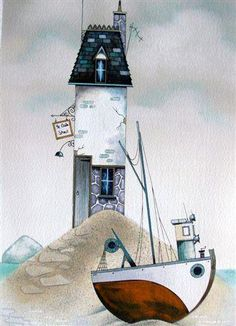 Ye Old Shack (Original) by Gary Walton, Art Print