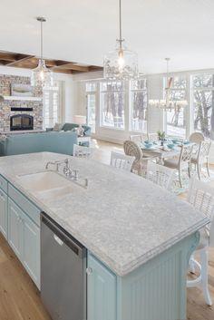 Farmhouse Style Kitchen, Kitchen Redo, New Kitchen, Kitchen Remodel, Cambria Countertops, How To Install Countertops, Cambria Quartz, Home Design, Interior Design Kitchen